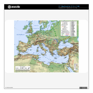 Roman Empire Map During Reign of Emperor Hadrian MacBook Decal
