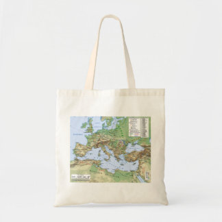 Roman Empire Map During Reign of Emperor Hadrian Tote Bag