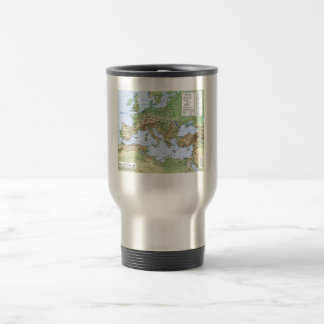 Roman Empire Map During Reign of Emperor Hadrian Travel Mug