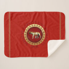 Roman Empire Style Sherpa Blanket