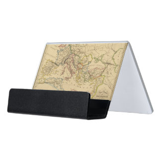 Roman Empire under Constantine and Trajan Desk Business Card Holder