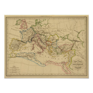 Roman Empire under Constantine and Trajan Posters
