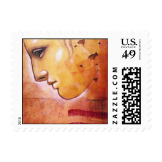 Roman face stamps by artist Chris Bradley