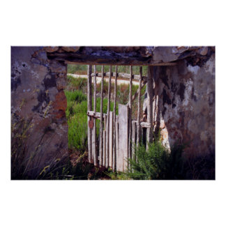 Roman fence, Ibiza, Spain Poster