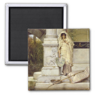 Roman Fisher Girl, 1873 2 Inch Square Magnet