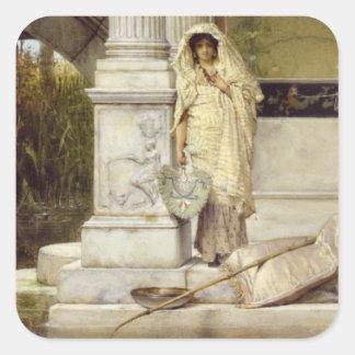 Roman Fisher Girl, 1873 Square Sticker