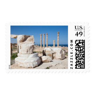 Roman Forum And Remains Of Statue, Sabratha, AZ Postage Stamp