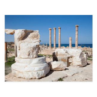 Roman Forum And Remains Of Statue, Sabratha, AZ Postcard