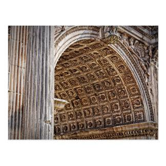 Roman Forum Arch of Septimius Severus Postcard