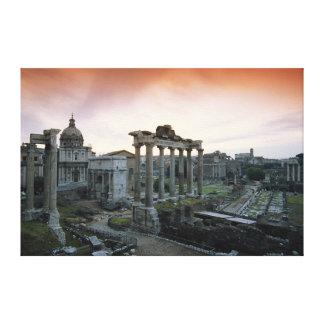 Roman Forum at dawn Canvas Print
