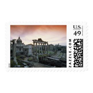 Roman Forum at dawn Postage Stamp