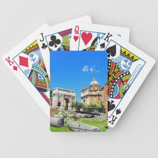 Roman forum bicycle playing cards