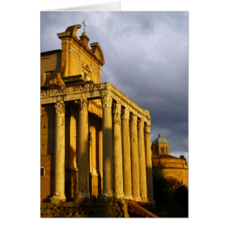 roman forum building card