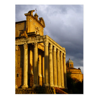 roman forum building postcard