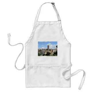 Roman Forum Church with Romanesque bell tower Adult Apron