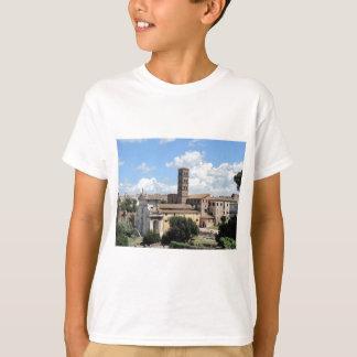 Roman Forum Church with Romanesque bell tower T-Shirt