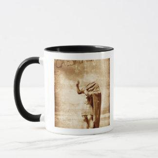 roman forum, headless statue of roman leader mug
