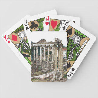 Roman Forum in Chalk Bicycle Playing Cards