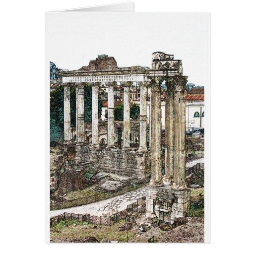 Roman Forum in Chalk Card