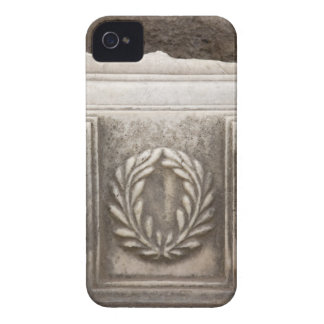 roman forum, laurel design on marble stone block iPhone 4 case