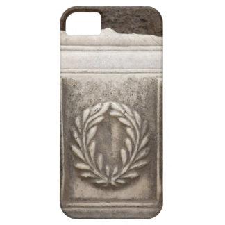 roman forum, laurel design on marble stone block iPhone 5 case