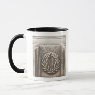 roman forum, laurel design on marble stone block mug