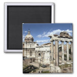 Roman Forum, Rome, Italy 2 Inch Square Magnet