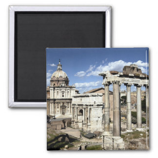 Roman Forum, Rome, Italy 2 Inch Square Magnet