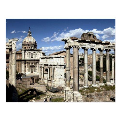 Roman Forum Rome Italy Postcard