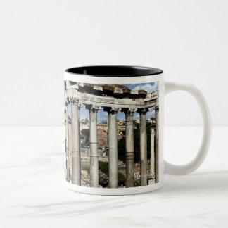 Roman Forum, Rome, Italy Two-Tone Coffee Mug