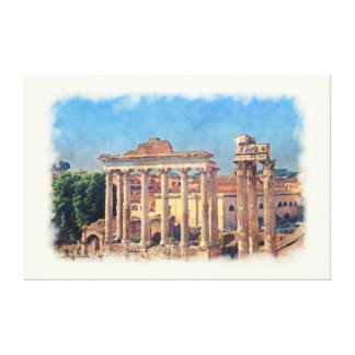 Roman forum ruins Canvas Print