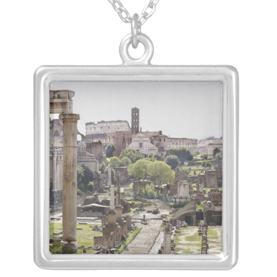 Roman Forum Silver Plated Necklace