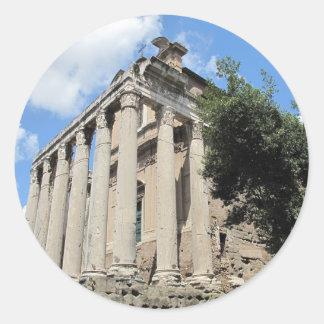 Roman Forum - Temple of Antoninus Classic Round Sticker