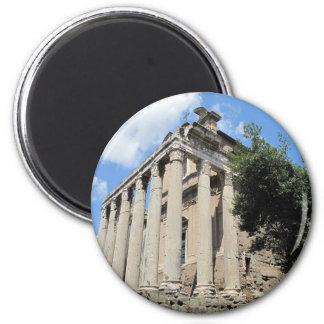 Roman Forum - Temple of Antoninus 2 Inch Round Magnet
