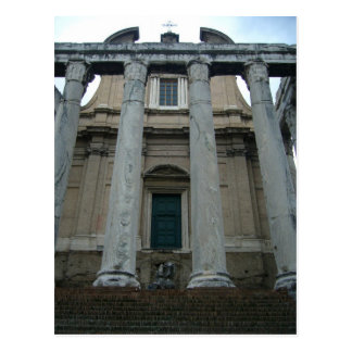 roman forum temple postcard
