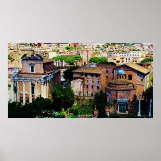 Roman Forum View Poster