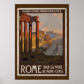 Roman Forum Vintage Travel Advertisement Poster