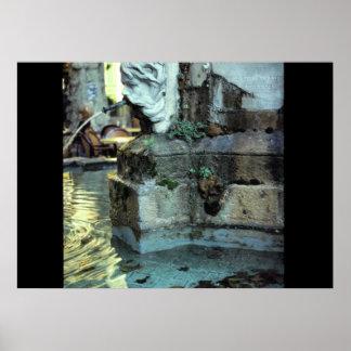 Roman Fountain, Aix-en-Provence, France Poster