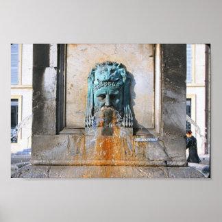Roman Fountain Poster