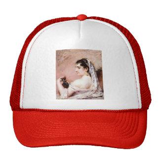 Roman Girl by Mary Cassatt Mesh Hats