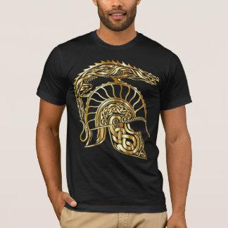 roman gladiator centurion helmet gold tshirt