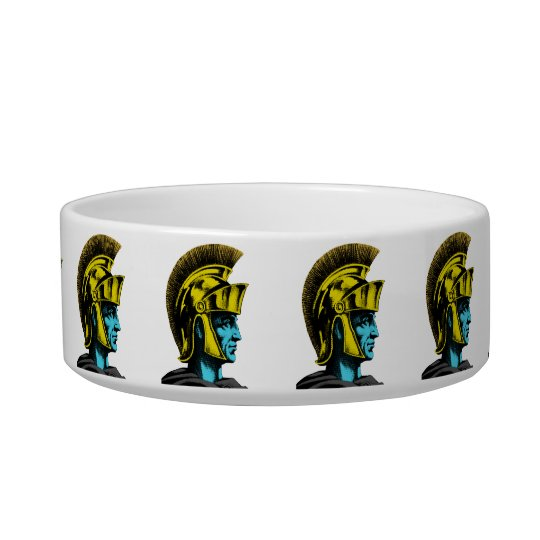 Roman Gladiator Pop Art Portrait Bowl