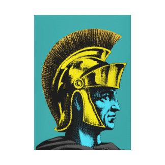 Roman Gladiator Pop Art Portrait Canvas Print