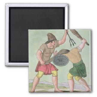 Roman Gladiators from L Antica Roma 1825 colo Magnets