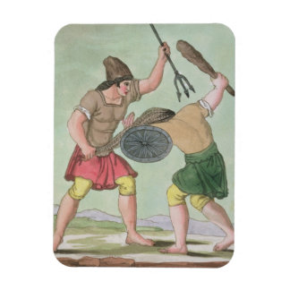 Roman Gladiators from L Antica Roma 1825 colo Rectangular Magnet
