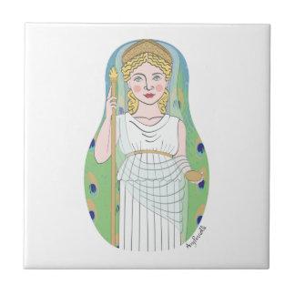 Roman Goddess Juno Matryoshka Tile