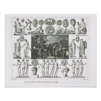 Roman gods and mythological creatures poster