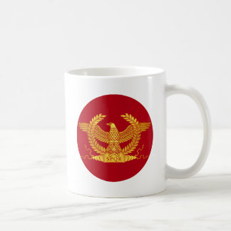 Roman Golden Eagle on Red Coffee Mug