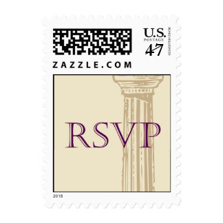 Roman Greek Column RSVP Postage Stamp