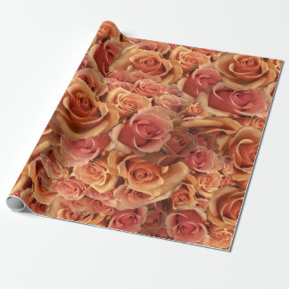 Roman Grenadier Roses Wrapping Paper
